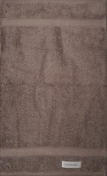 Bademayer Prestige - Frottier Gästetuch Größe 30 x 50 cm.  aus 100% Ägyptischer Gekämmter Baumwolle Schokobraun