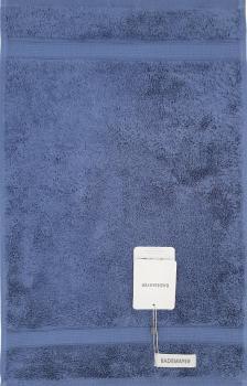 Bademayer Prestige - Frottier Gästetuch Größe 30 x 50 cm.  aus 100% Ägyptischer Gekämmter Baumwolle Stahlblau Fusselfrei