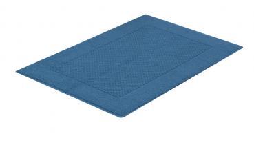 Bademayer Luxus - Frottier Badteppich / Duschvorlage aus 100% Baumwolle Blau - 1100 g/m² extra dicht