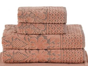 Bademayer Komfort- 4er Frottier XLBadetuch Handtuch-Set aus 100% Brasilianischer Gekämmter Baumwolle. Terrakotta.  Fusselfrei - Einzeln verpackt