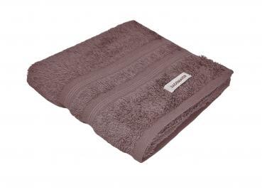 Bademayer Luxus - Frottier Handtuch Größe 48 x 90 cm.  aus 100% Ägyptischer Gekämmter Baumwolle Braun Fusselfrei