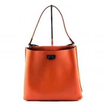 Marlon Montecarlo Damentasche aus echtem Leder - Farbe Ingwer / Orange - Made in Italy